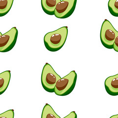 Seamless pattern with avocado. Repeated background for surface pattern design, textile, fabric. For print, wallpaper
