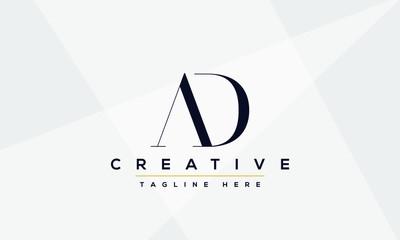AD Letter Logo Design. Creative Modern A D Letters Icon vector Illustration.