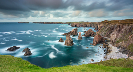 Long Exposure of Sea Stacks of Mangersta Isle of Lewis Outer Hebrides
