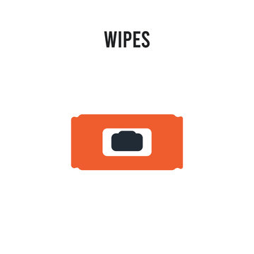 Wipes vector icon on white background. Red and black colored Wipes icon. Simple element illustration sign symbol EPS