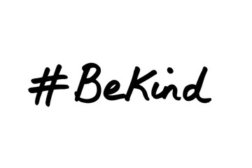 Hashtag Be Kind Wall mural