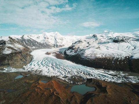 Island Svínafellsjökull Gletscher