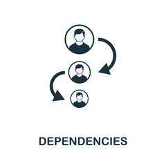 Dependencies icon. Simple element from business intelligence collection. Filled Dependencies icon for templates, infographics and more