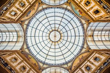 Foto op Textielframe Milan Galleria Vittorio Emanuele Dome Milan