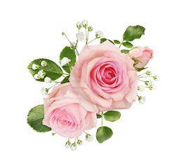Wall Murals Floral Pink rose flowers in a floral arrangement