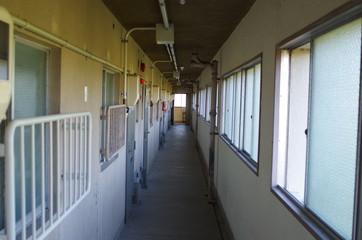 団地の廊下