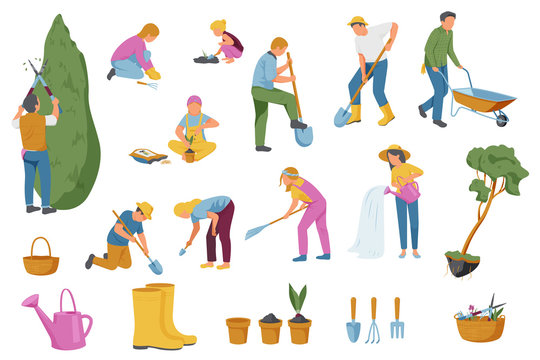 Spring Gardening Icons Collection