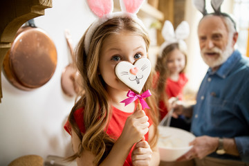 Fake nose for cute bunny stock photo
