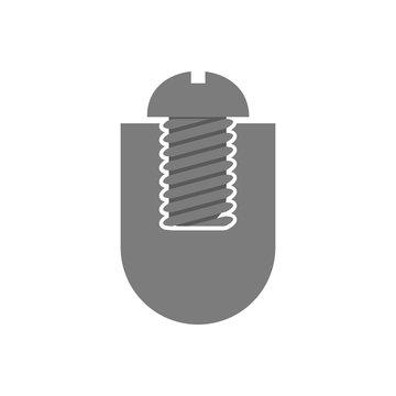 black screw logo