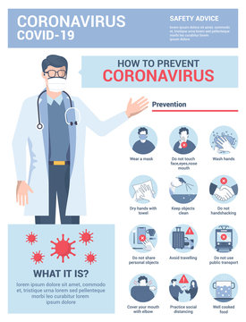 Flat Modern design Illustration of Coronavirus - Safety Advices 5
