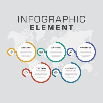 Five Point Infographic Element Business Strategy