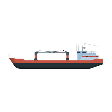 Barge vector icon.Cartoon vector icon isolated on white background barge.
