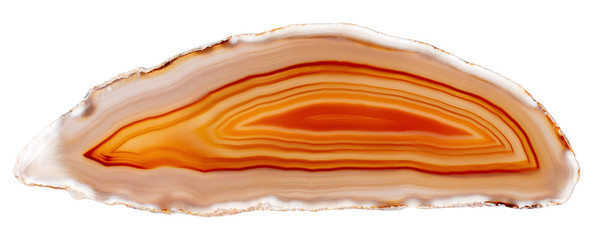 Beautiful natural agate in great orange color for interior work.