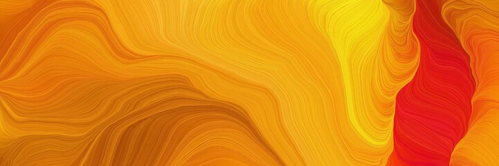 energy colorful waves background with dark orange, strong red and coffee colors Fototapete