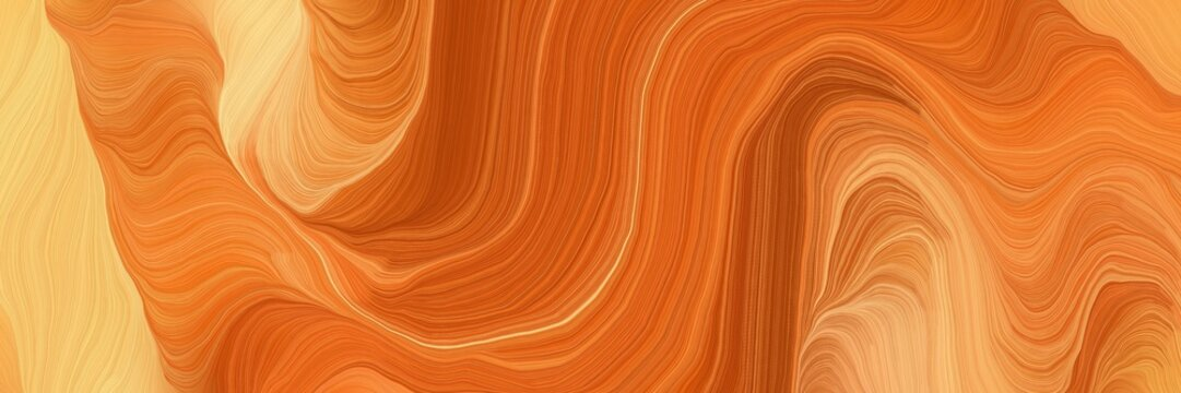 motion decorative waves graphic with bronze, coffee and burly wood colors