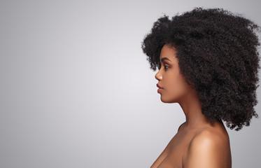 African American female with clean skin Fotomurales