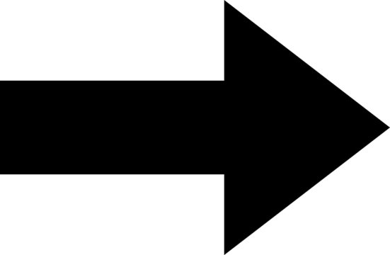Right arrow black icon isolated on white background
