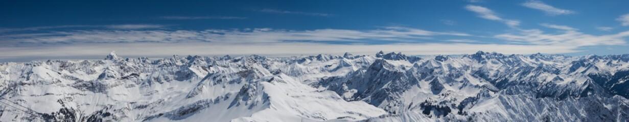 Photo sur cadre textile Alpes Allgäuer Alpen