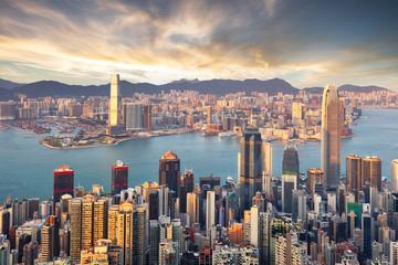 Fotomurales - Hong Kong downtown - Victoria, China