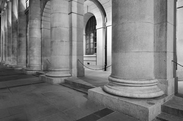 Fototapete - Classic column and exterior of old architecture