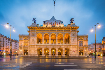 Deurstickers Wenen The Vienna State Opera in Austria.