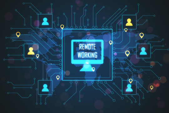 Distant coworking remote work interface
