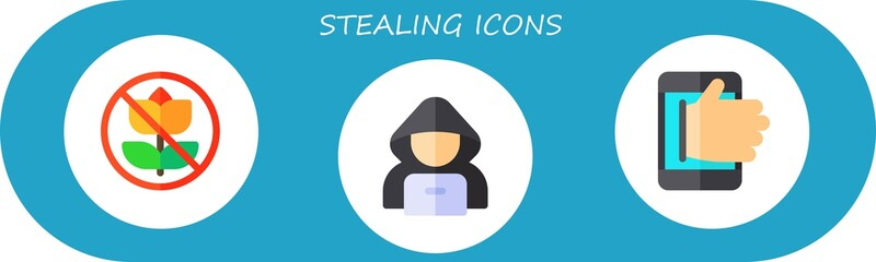 stealing icon set