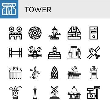 tower icon set