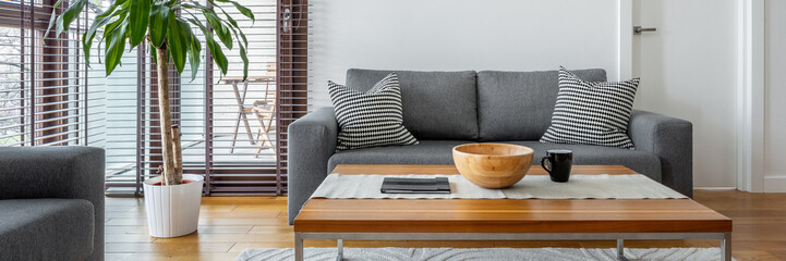Gray couch in living room Fototapete