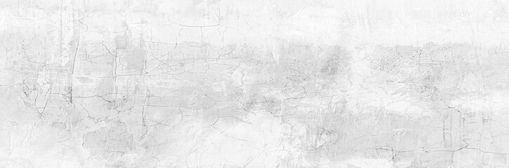 Full Frame Panorama Wall Background High Resolution on White Gray Cement Abstract texture. Fotobehang