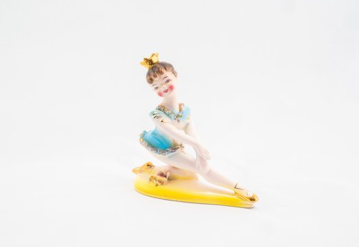 A small vintage hand-painted figurine, an image taken at rugfoot studios. Photo date: Monday, March 23, 2020. Photo credit should read: Richard Gray/Adobe