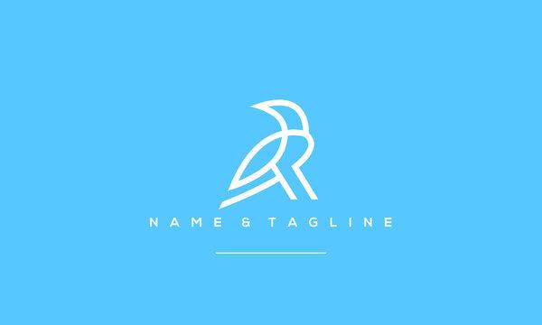 A line art icon logo of a crow/ raven