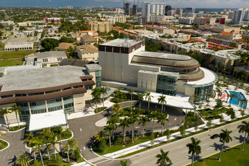 Aerial photo Kravis Center for the performing arts West Palm Beach FL