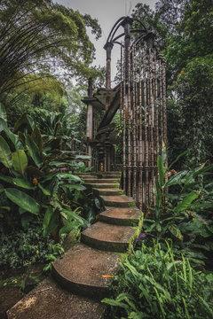 Las Pozas, a surrealist botanical garden in Xilitla, Jalisco Mexico by Edward James.