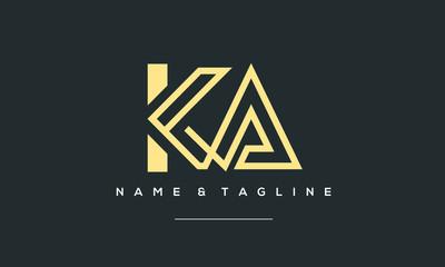 Obraz alphabet letter icon logo KA - fototapety do salonu