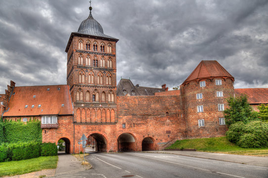 The Burgtor gate in Lubeck, Germany