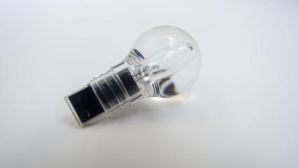 Wall Mural - Light bulb on white background