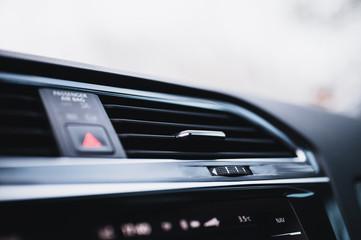 Car air conditioning system. Auto interior detail. Car air condition.