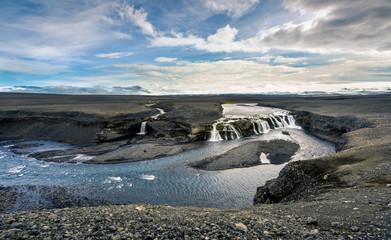 Gjallandi  Waterfall near Dyngjujökull Glacier, Iceland