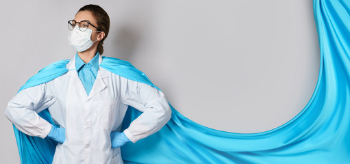 Brave female superhero doctor will helping us in battle against the virus