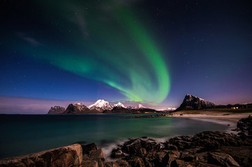 Aurora Borealis at the Lofoten islands, Norway