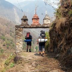 Wall Murals Nepal entry to Round Annapurna circuit trekking trail