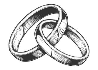 illustration of Wedding rings