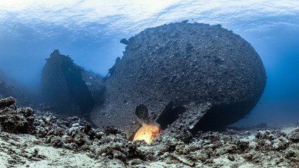 Wrack der Chrisoula K bei Abu Nuhas im Roten Meer