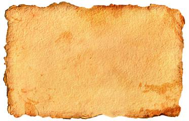 Papier Papyrus Pergament alt vintage old paper handgeschöpft gelb braun mit Struktur Rand dunkler ungleichmäßig, Design Retro chabby chic Vorlage template mock up layout website Hintergrund antik