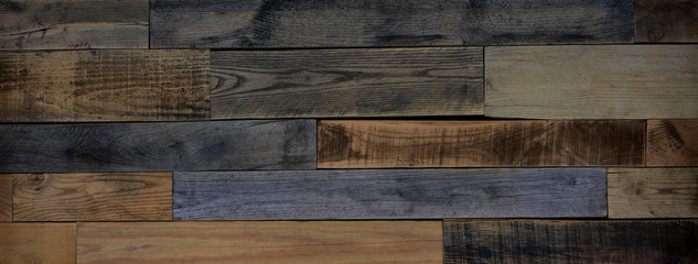 Rustic reclaimed wood background with rough sanded finish.
