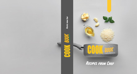 Stylish cover for cook book