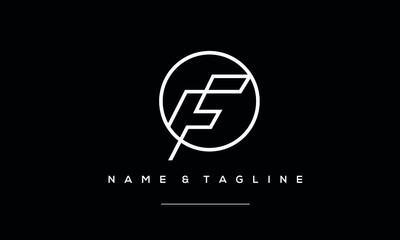 Alphabet letter icon logo F