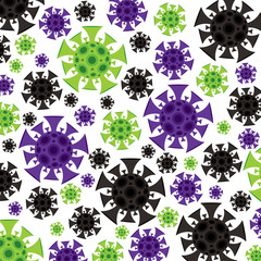 Coronavirus, covid-19, 2019-ncov Wuhan virus background in vector format.