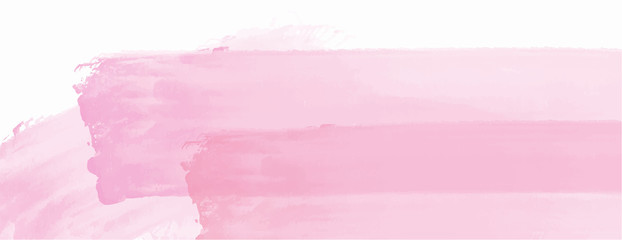 Pink watercolor splash background for your design, watercolor background concept, vector. Wall mural